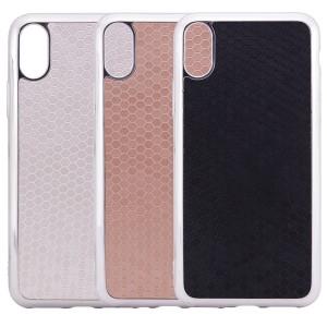 """Фактурный силиконовый чехол для Apple iPhone X (5.8"""") с глянцевой окантовкой"""