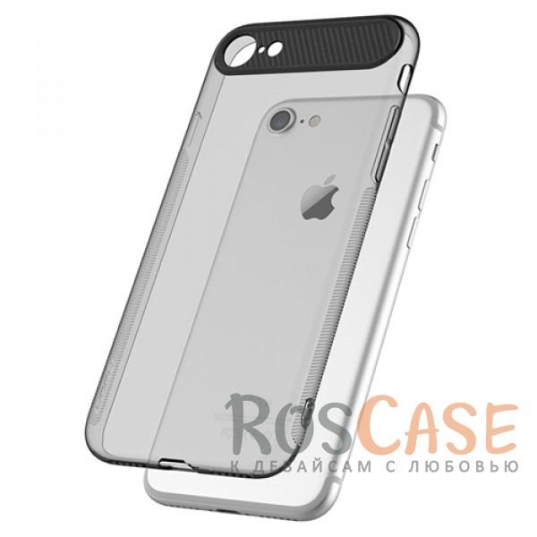 TPU+PC чехол Rock Ace Series для Apple iPhone 7 (4.7) (Черный / Transparent black)Описание:произведен фирмой&amp;nbsp;Rock;материал: термополиуретан, поликарбонат;совместимость: Apple iPhone 7 (4.7);тип: накладка.<br><br>Тип: Чехол<br>Бренд: ROCK<br>Материал: TPU