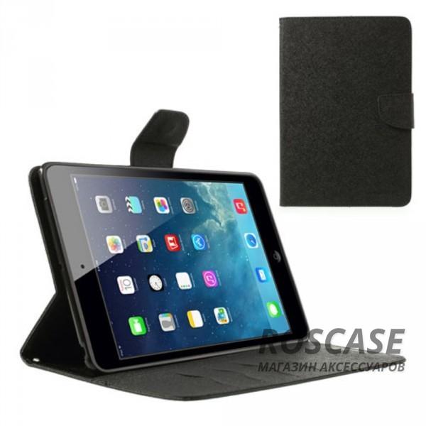 Чехол (книжка) Mercury Fancy Diary series для iPad Mini / iPad Mini Retina/ iPad mini 3 (Черный)Описание:производитель  -  бренд&amp;nbsp;Mercury;совместим с iPad Mini / iPad Mini Retina/ ipad mini 3;материалы  -  искусственная кожа, термополиуретан;форма  -  чехол-книжка.&amp;nbsp;Особенности:рельефная поверхность;все функциональные вырезы в наличии;внутренние кармашки;магнитная застежка;защита от механических повреждений;трансформируется в подставку.<br><br>Тип: Чехол<br>Бренд: Mercury<br>Материал: Искусственная кожа