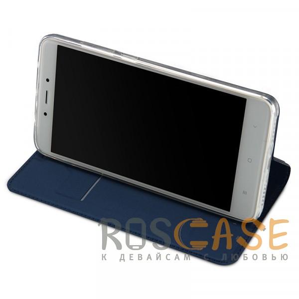 Изображение Синий Dux Ducis | Чехол-книжка для Xiaomi Redmi Note 4 (MTK) с подставкой и карманом для визиток