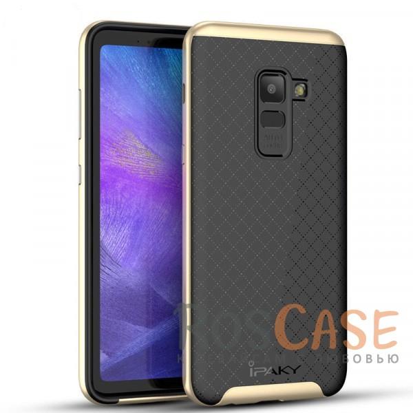 Фото Черный / Золотой iPaky Hybrid   Противоударный чехол для Samsung A530 Galaxy A8 (2018)