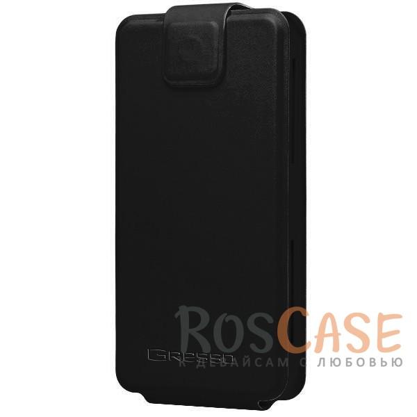 Универсальный чехол-флип Gresso Грант для смартфона 4.9-5.2 дюйма (Черный)<br><br>Тип: Чехол<br>Бренд: Gresso<br>Материал: Искусственная кожа