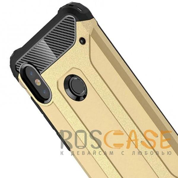 Фото Золотой Immortal | Противоударный чехол для Xiaomi Redmi Note 6 Pro