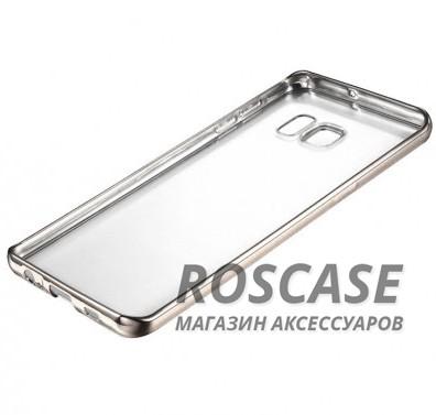 Прозрачный силиконовый чехол для Samsung G935F Galaxy S7 Edge с глянцевой окантовкой (Серебряный)Описание:подходит для Samsung G935F Galaxy S7 Edge;материал - силикон;тип - накладка.Особенности:глянцевая окантовка;прозрачный центр;гибкий;все вырезы в наличии;не скользит в руках;ультратонкий.<br><br>Тип: Чехол<br>Бренд: Epik<br>Материал: Силикон