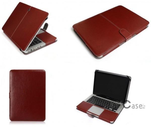 Кожаный чехол-книжка TTX для Apple MacBook Air 11 (Коричневый)Описание:разработка и изготовление&amp;nbsp;TTX;изготовлен из синтетической кожи;тип конструкции - чехол-книжка;совместим с Apple MacBook Air 11.&amp;nbsp;Особенности:износостойкий;плотно облегает устройство;магнитная застежка;на нем не видны отпечатки пальцев;легко очищается.<br><br>Тип: Чехол<br>Бренд: TTX<br>Материал: Искусственная кожа