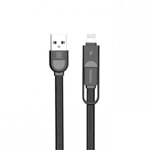Remax RC-033T | Дата кабель с двойным разъемом Lightning/MicroUSB (100 cм)