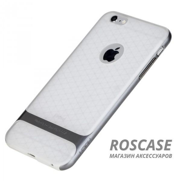 TPU+PC чехол Rock Royce (Transparent) Series для Apple iPhone 6/6s (4.7) (Серый / Grey)Описание:фирма-производитель  - &amp;nbsp;Rock;совместимость - Apple iPhone 6/6s (4.7);материалы  -  полиуретан, поликарбонат;тип  -  накладка.&amp;nbsp;Особенности:пластичный;имеет все необходимые вырезы;легко чистится;не увеличивает габариты;защищает от ударов и падений;износостойкий.<br><br>Тип: Чехол<br>Бренд: ROCK<br>Материал: TPU