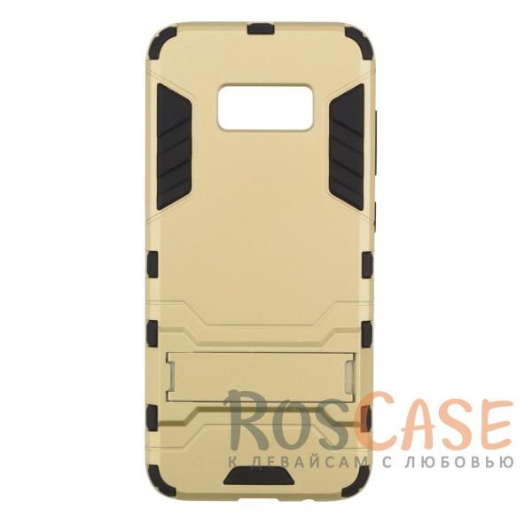 Ударопрочный чехол-подставка Transformer для Samsung G950 Galaxy S8 с мощной защитой корпуса (Золотой / Champagne Gold)Описание:чехол разработан для Samsung G950 Galaxy S8;материалы - термополиуретан, поликарбонат;тип - накладка;функция подставки;защита от ударов;прочная конструкция;не скользит в руках.<br><br>Тип: Чехол<br>Бренд: Epik<br>Материал: Пластик