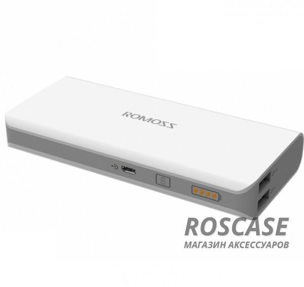 Дополнительный внешний аккумулятор ROMOSS Solo 4 (PH40-401) (8000mAh)Описание:производитель  - &amp;nbsp;Romoss;совместимость  -  универсальная (смартфон, плейер, планшет и др.);материалы  -  ABS;тип  -  внешний аккумулятор.&amp;nbsp;Особенности:емкость  -  8000 mAh;вход  -  5V/2.1A, выход - 5V/1A + 5V/2.1A;размер  -  138х62х21.5&amp;nbsp;мм;вес  -  240 г;два входа USB;индикатор заряда;кабель microUSB в комплекте.<br><br>Тип: Внешний аккумулятор<br>Бренд: ROMOSS