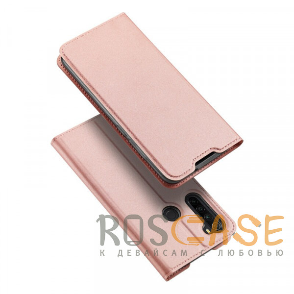 Фото Rose Gold Чехол-книжка Dux Ducis с карманом для Xiaomi Redmi Note 8