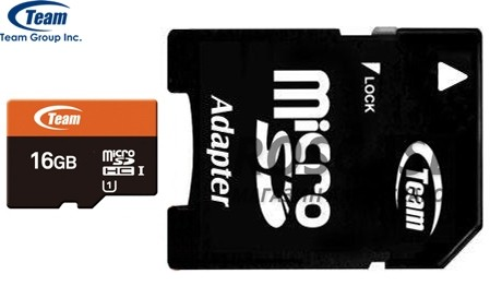 фото карта памяти Team microSDHC 16 GB Card Class 10 + SD adapter 300x