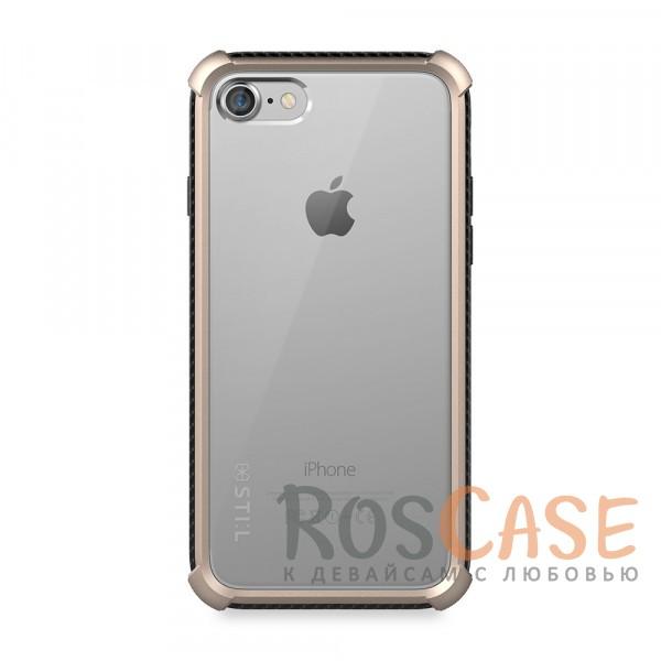 Ультратонкий прозрачный чехол STIL Clear Watch с защитными вставками на углы и защитой кнопок для Apple iPhone 7 / 8 (4.7) (Золотой (прозрачный))Описание:бренд&amp;nbsp;STIL;чехол идеально совместим с Apple iPhone 7 / 8 (4.7);материалы - поликарбонат, термополиуретан;формат - накладка.<br><br>Тип: Чехол<br>Бренд: Stil<br>Материал: Поликарбонат