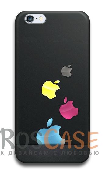 """Фото Пластиковый чехол RosCase с 3D нанесением """"Лого Apple"""" для iPhone 4/4S"""