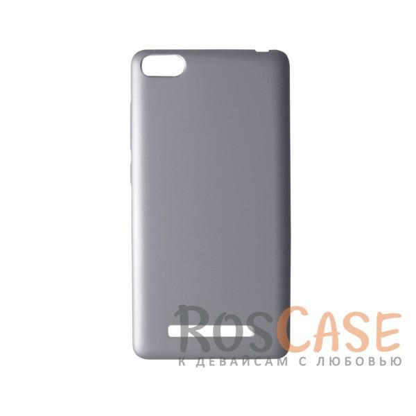 Пластиковая накладка soft-touch с защитой торцов Joyroom для Xiaomi Mi 4i / Mi 4c (Серебряный)<br><br>Тип: Чехол<br>Бренд: Epik<br>Материал: Пластик