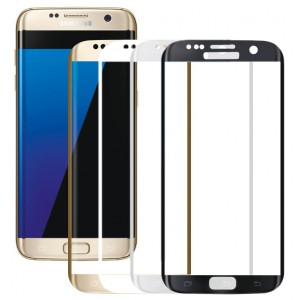 Защитное 3D стекло с цветной рамкой на весь экран для Samsung G935F Galaxy S7 Edge
