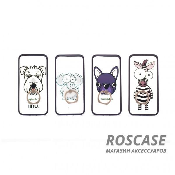 Чехол-подставка с кольцом Fancy animals для Apple iPhone 5/5S/SEОписание:разработан для Apple iPhone 5/5S/SE;материал: пластик;форма: накладка с кольцом.&amp;nbsp;Особенности:кольцо-подставка;функциональные вырезы;оригинальный дизайн;защита от ударов и царапин;не скользит в руках.<br><br>Тип: Чехол<br>Бренд: Epik<br>Материал: Пластик