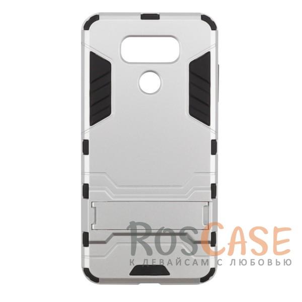 Ударопрочный чехол-подставка Transformer для LG G6 / G6 Plus H870 / H870DS с мощной защитой корпуса (Серебряный / Satin Silver)Описание:чехол разработан для LG G6 / G6 Plus H870 / H870DS;материалы - термополиуретан, поликарбонат;тип - накладка;функция подставки;защита от ударов;прочная конструкция;не скользит в руках.<br><br>Тип: Чехол<br>Бренд: Epik<br>Материал: Пластик