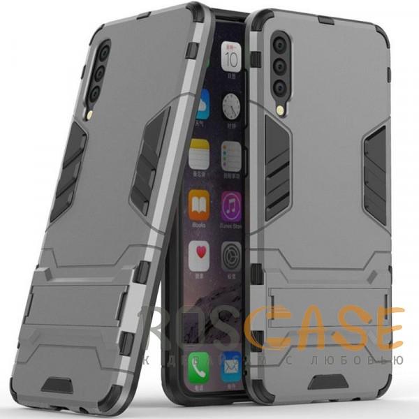Фото Металл / Gun Metal Transformer | Противоударный чехол для Samsung A705F Galaxy A70 с мощной защитой корпуса