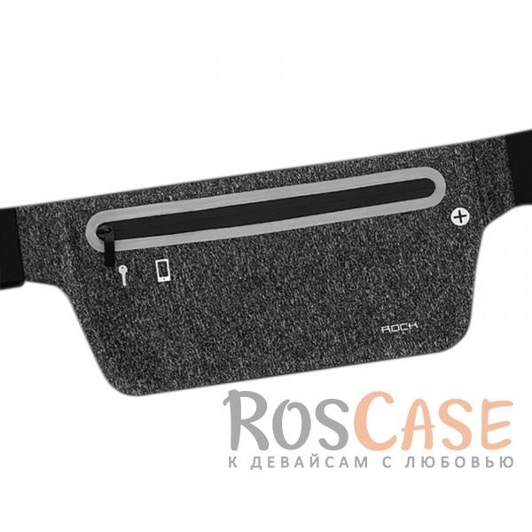 Спортивная сумка на пояс Rock (Slim) (Черный / Black)Описание:производитель  - &amp;nbsp;Rock;совместимость  -  смартфоны с диагональю&amp;nbsp;до 6-ти дюймов;материал  -  лайкра;форма  -  сумка на пояс;регулируемый ремень - 50-140 см;водонепроницаемая молния;размеры сумки - 27*11,2 см;предусмотрено отверстие для провода наушников;светоотражающая полоса;водонепроницаемый материал.<br><br>Тип: Чехол<br>Бренд: ROCK<br>Материал: Натуральная кожа