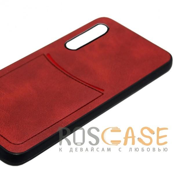 Фото Красный ILEVEL   Чехол с кожаным покрытием и с карманом-визитницей для Huawei P20 Pro