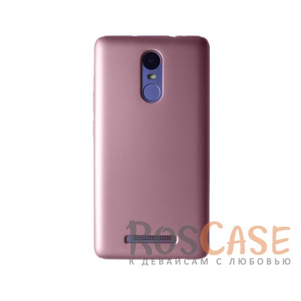 Пластиковая накладка soft-touch с защитой торцов Joyroom для Xiaomi Redmi Note 3/Redmi Note 3 Pro (Розовый)<br><br>Тип: Чехол<br>Бренд: Epik<br>Материал: Пластик