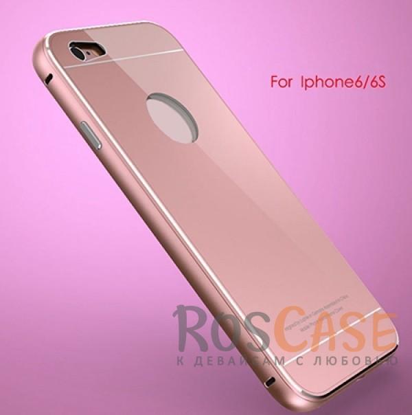 Металлический бампер Luphie с акриловой вставкой для Apple iPhone 6/6s (4.7) (Rose Gold)Описание:бренд -&amp;nbsp;Luphie;материал - алюминий, акриловое стекло;совместим с Apple iPhone 6/6s (4.7);тип - бампер со вставкой.Особенности:акриловая вставка;прочный алюминиевый бампер;в наличии все вырезы;ультратонкий дизайн;защита устройства от ударов и царапин.<br><br>Тип: Чехол<br>Бренд: Luphie<br>Материал: Металл