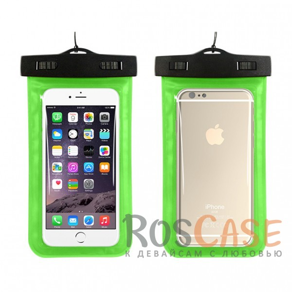 Водонепроницаемый пластиковый чехол для телефона 3.5-5.5 дюйма (Зеленый)