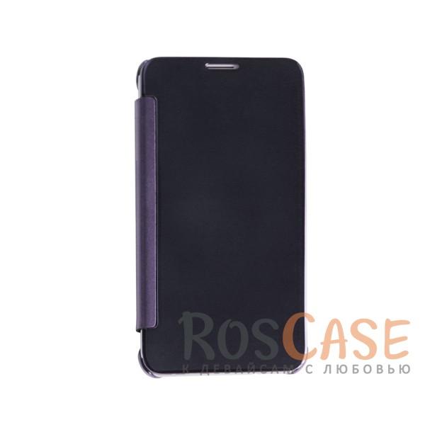 Чехол-книжка с полупрозрачной акриловой крышкой с зеркальным покрытием для Samsung J710F Galaxy J7 (Фиолетовый)<br><br>Тип: Чехол<br>Бренд: Epik<br>Материал: Пластик