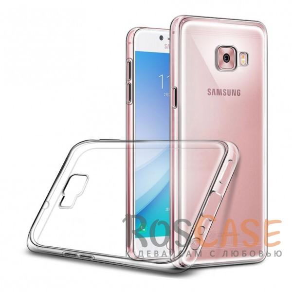 Ультратонкий силиконовый чехол для Samsung Galaxy C7 ProОписание:совместим с Samsung Galaxy C7 Pro;ультратонкий дизайн;материал - TPU;тип - накладка;прозрачный;защищает от ударов и царапин;гибкий.<br><br>Тип: Чехол<br>Бренд: Epik<br>Материал: TPU