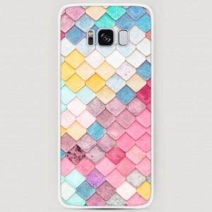 RosCase | Силиконовый чехол Нежные ромбики на Samsung G950 Galaxy S8