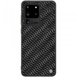 Nillkin Twinkle Silvery | Чехол с текстурной тканевой вставкой  для Samsung Galaxy S20 Ultra