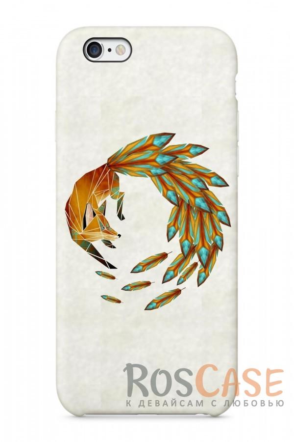 """Фото Лисица на Охоте Пластиковый чехол RosCase """"Лесные животные"""" для iPhone 6/6s (4.7"""")"""