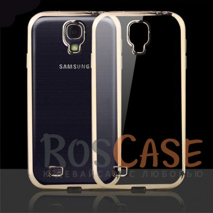 Прозрачный силиконовый чехол для Samsung i9500 Galaxy S4 с глянцевой окантовкой (Золотой)Описание:совместим с Samsung i9500 Galaxy S4;материал - термополиуретан;тип - накладка.<br><br>Тип: Чехол<br>Бренд: Epik<br>Материал: TPU