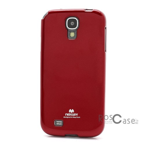 фото Красный TPU чехол Mercury Jelly Color series для Samsung i9500 Galaxy S4