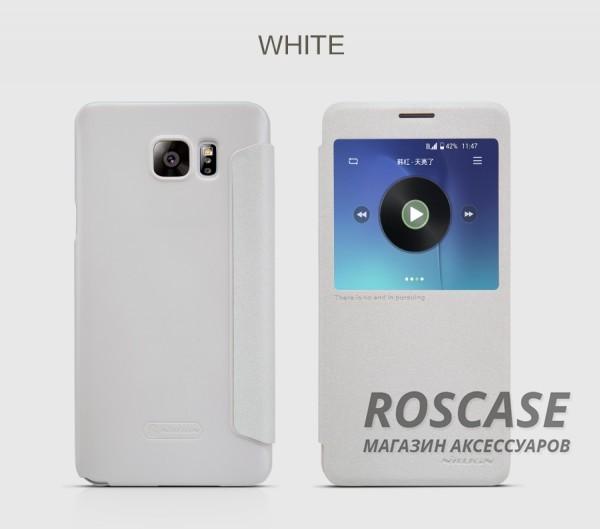 Кожаный чехол (книжка) Nillkin Sparkle Series для Samsung Galaxy Note 5 (Белый)Описание:бренд -&amp;nbsp;Nillkin;совместим с Samsung Galaxy Note 5;материал - кожзам;тип: книжка.&amp;nbsp;Особенности:функция Sleep mode;окошко в обложке;блестящая поверхность;защита со всех сторон.<br><br>Тип: Чехол<br>Бренд: Nillkin<br>Материал: Искусственная кожа