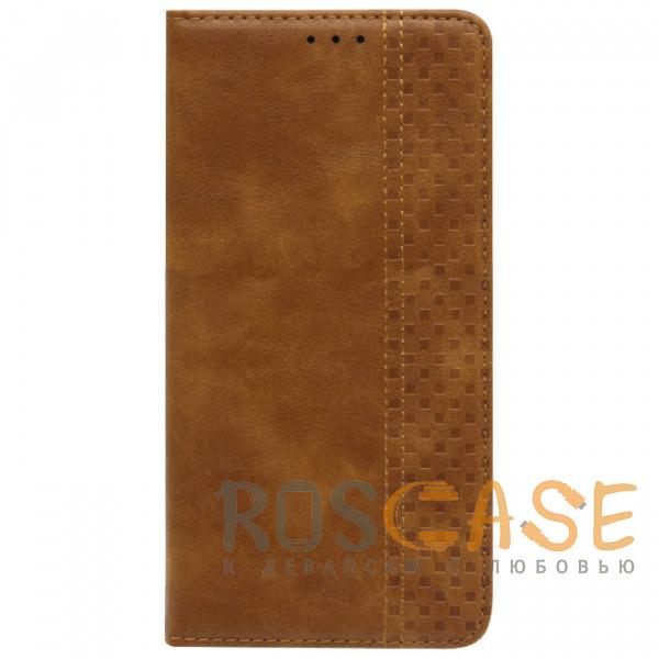 Фотография Коричневый Business Wallet   Кожаный чехол книжка с визитницей для Samsung Galaxy A52