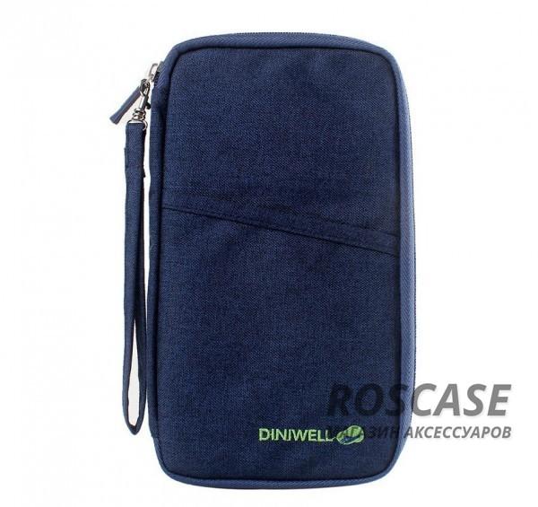 Дорожная сумка-клатч Diniwell для телефона, документов и карт из влагозащитного материала (Синий)Описание:бренд  -  Diniwell;материал  -  ткань с пропиткой;для телефона, документов, карточек;тип  -  дорожная сумка-клатч.&amp;nbsp;Особенности:материал не пропускает влагу;размеры  -  25*15*2 см;застежка на молнии;множество внутренних кармашков;вместительная;компактная;ремешок в комплекте.<br><br>Тип: Общие аксессуары<br>Бренд: Epik