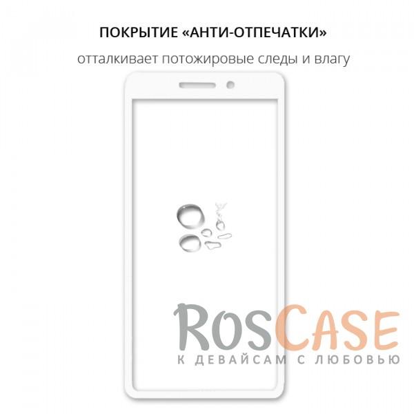 Изображение Белый Защитное стекло с цветной рамкой на весь экран для Xiaomi Redmi 4a