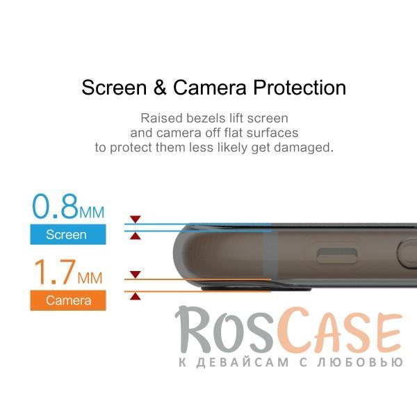 """Изображение Черный / Transparent black Rock Ace   Силиконовый чехол для Apple iPhone 7 plus / 8 plus (5.5"""") с матовой пластиковой вставкой"""