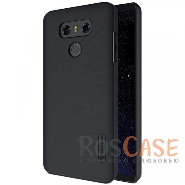 Матовый чехол для LG G6 / G6 Plus H870 / H870DS (+ пленка) (Черный)Описание:бренд&amp;nbsp;Nillkin;совместим с LG G6 / G6 Plus H870 / H870DS;материал: поликарбонат;рельефная фактура;тип: накладка;в наличии все функциональные вырезы;закрывает заднюю панель и боковые грани;не скользит в руках;защищает от ударов и царапин.<br><br>Тип: Чехол<br>Бренд: Nillkin<br>Материал: Поликарбонат