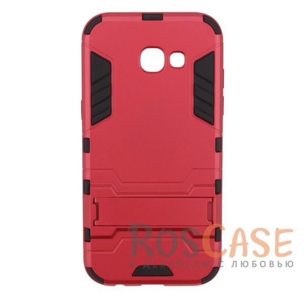 Ударопрочный чехол-подставка Transformer для Samsung A520 Galaxy A5 (2017) с мощной защитой корпуса (Красный / Dante Red)Описание:ударопрочный аксессуар с функцией подставки;чехол разработан для Samsung A520 Galaxy A5 (2017);материалы - термополиуретан, поликарбонат;тип - накладка.<br><br>Тип: Чехол<br>Бренд: Epik<br>Материал: TPU