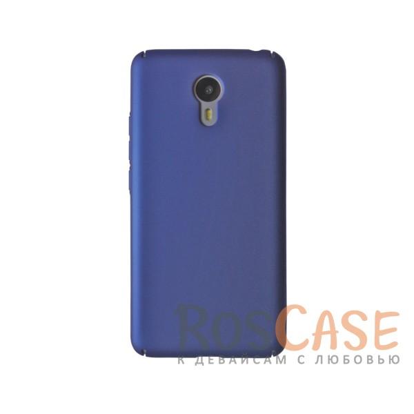 Пластиковая накладка soft-touch с защитой торцов Joyroom для Meizu M3 Note (Синий)<br><br>Тип: Чехол<br>Бренд: Epik<br>Материал: Пластик