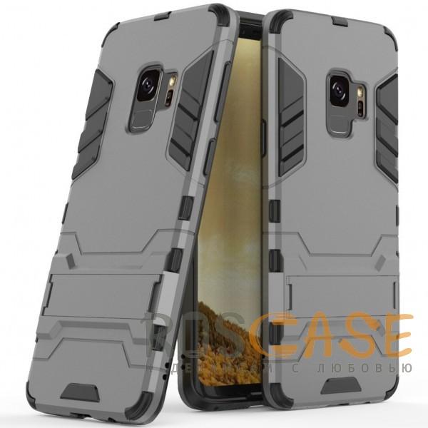 Фото Металл / Gun Metal Transformer | Противоударный чехол для Samsung Galaxy S9 с мощной защитой корпуса