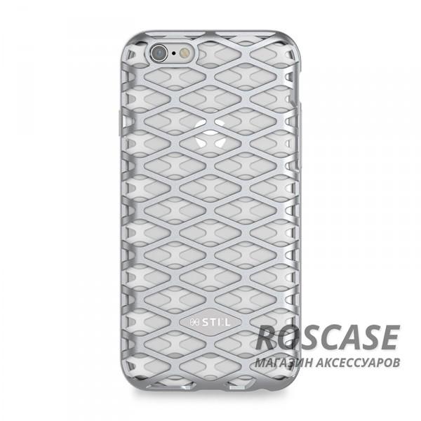 Накладка STIL Urban Knight Series с алюминиевой вставкой для Apple iPhone 6/6s (4.7) (Серебряный)Описание:создан компанией&amp;nbsp;STIL;разработан с учетом особенностей&amp;nbsp;Apple iPhone 6/6s (4.7);материалы - алюминий, термополиуретан;тип - накладка.Особенности:дизайн в виде кольчуги;доступ ко всем функциям гаджета благодаря точным вырезам;защита от царапин и ударов;защита экрана благодаря выступающим бортикам;размеры - 143*72*10 мм, 29&amp;nbsp;гр.<br><br>Тип: Чехол<br>Бренд: Stil<br>Материал: TPU