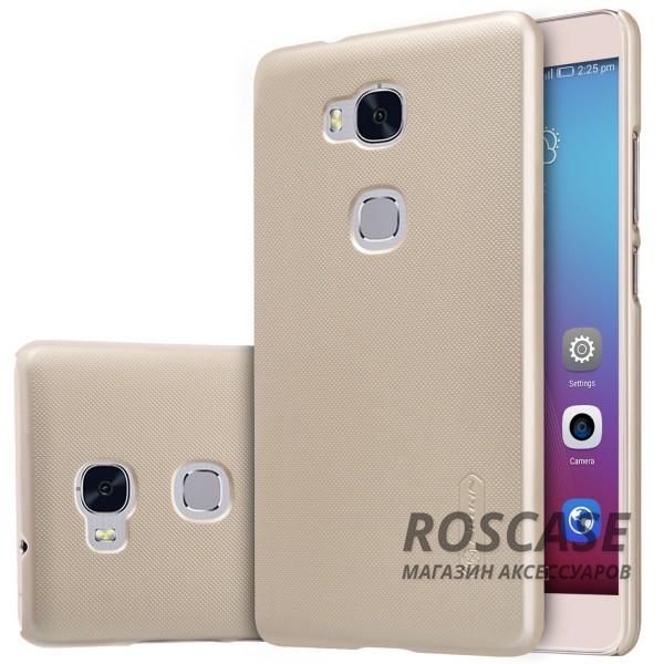 Чехол Nillkin Matte для Huawei Honor 5X / GR5 (+ пленка) (Золотой)Описание:производитель - компания&amp;nbsp;Nillkin;материал - поликарбонат;совместим с Huawei Honor X5 / GR5;тип - накладка.&amp;nbsp;Особенности:матовый;прочный;тонкий дизайн;не скользит в руках;не выцветает;пленка в комплекте.<br><br>Тип: Чехол<br>Бренд: Nillkin<br>Материал: Пластик