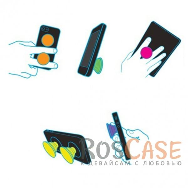 Фотография Мопс Складная подставка-держатель Попсокет с необычными изображениями