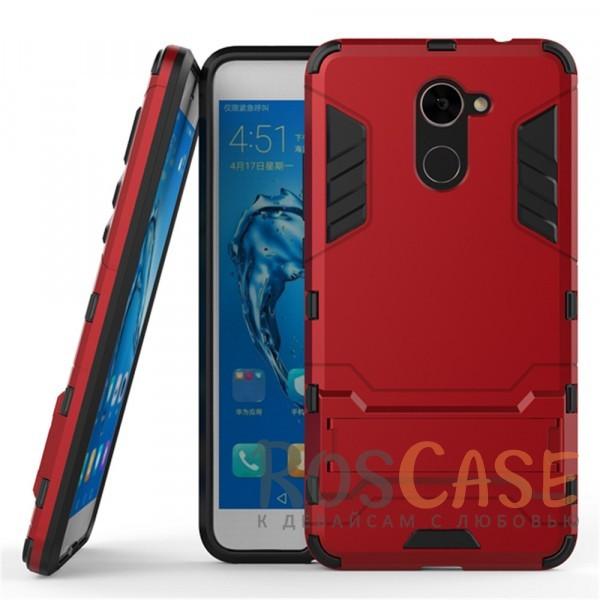 Ударопрочный чехол-подставка Transformer для Huawei Y7 Prime с мощной защитой корпуса (Красный / Dante Red)Описание:совместимость - Huawei Y7 Prime;материалы - термополиуретан, поликарбонат;тип - накладка;функция подставки;защита от ударов, сколов, трещин;не скользит в руках;прочная конструкция;все необходимые функциональные вырезы.<br><br>Тип: Чехол<br>Бренд: Epik<br>Материал: Пластик