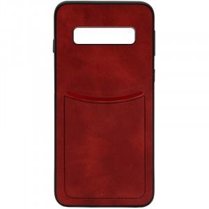 ILEVEL | Чехол с кожаным покрытием и с карманом-визитницей для Samsung Galaxy S10