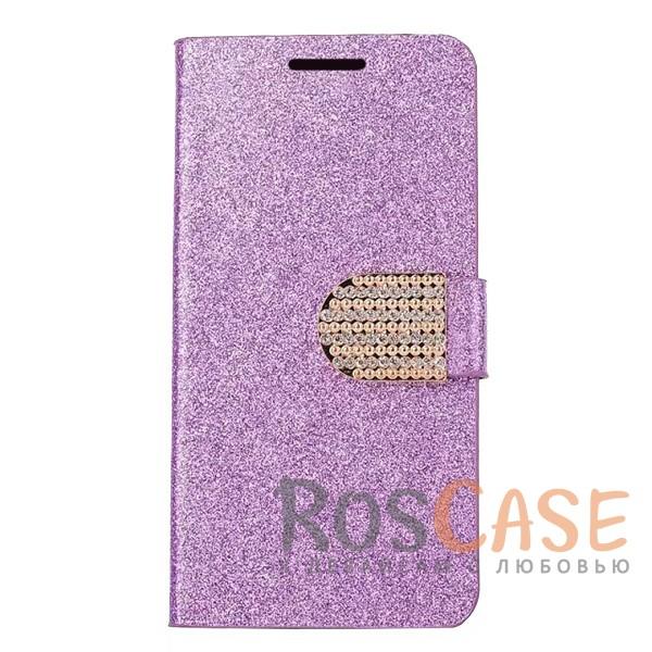 Сияющий кожаный чехол-книжка со стразами для LG H930 / H930DS V30 / V30+ (Фиолетовый)Описание:тип - чехол-книжка;совместимость -&amp;nbsp;LG H930 / H930DS V30 / V30+;материал - искусственная кожа, силикон;защита со всех сторон;магнитная застежка со стразами;сияющая гладкая поверхность;внутренние кармашки для пластиковых карт;защищает от механических повреждений;уникальный яркий дизайн.<br><br>Тип: Чехол<br>Бренд: Epik<br>Материал: Искусственная кожа