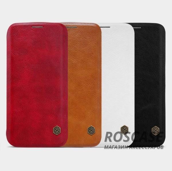 Кожаный чехол (книжка) Nillkin Qin Series для Samsung G935F Galaxy S7 EdgeОписание:фирма:&amp;nbsp;Nillkin;совместим с Samsung G935F Galaxy S7 Edge;изготовлен из натуральной кожи;форма чехла: книжка.Особенности:высокая износостойкость;амортизация при ударах;простое применение и уход;уникальный стиль.<br><br>Тип: Чехол<br>Бренд: Nillkin<br>Материал: Натуральная кожа